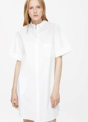 Шелковое платье рубашка cos
