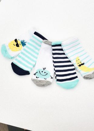 18-20, 21-23 5 пар короткие носки на лето c&a