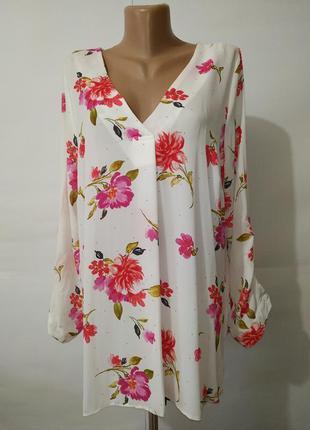 Блуза новая цветочная красивенная george uk 16/44/xl