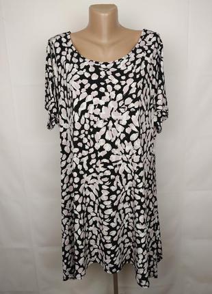 Платье туника эластичное в принт большого размера yours uk 22-24