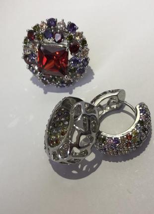 Набор: кольцо и серьги