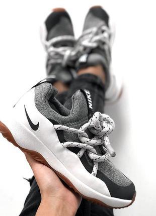 Крутые женские кроссовки nike city loop grey серые