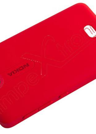 Задняя крышка для Nokia Asha 501 красная оригинал 02502H7