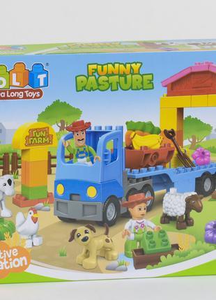 Конструктор для детей JDLT Funny Pasture 5208 Ферма 58 эл.
