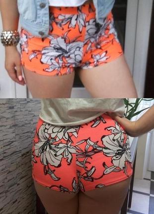 Фирменные короткие шорты с высокой посадкой missguided, м-л
