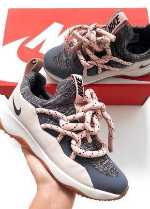 Крутые женские кроссовки nike city loop pink розовые