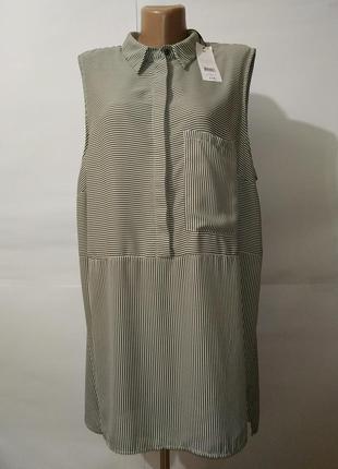 Платье блуза новая стильная удлиненная в полоску papaya uk 20/...