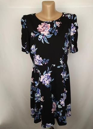 Платье цветочное стильное большого размера uk 18/46/xxl