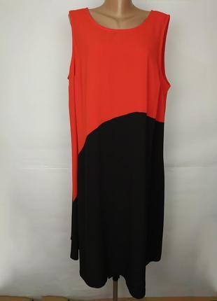 Платье красивое асимметричное большой размер uk 24/52/4xl