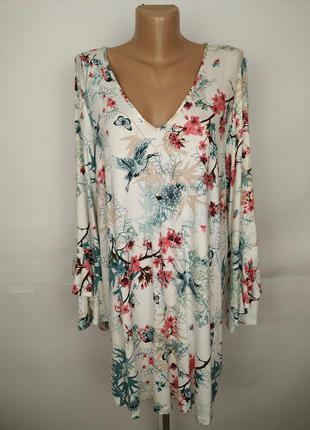Новое платье туника красивое в цветы сакуры большого размера g...