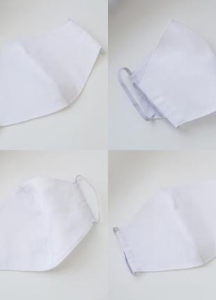 Белая медицинская маска защитная многоразовая