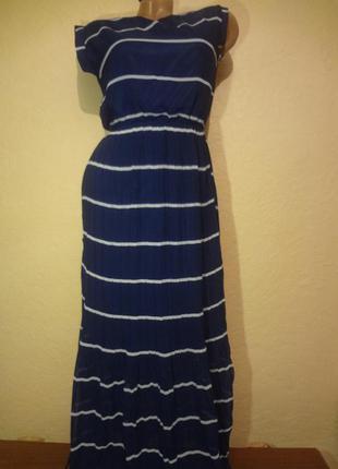 Шикарное шифоновое плиссированное длинное платье размер s m