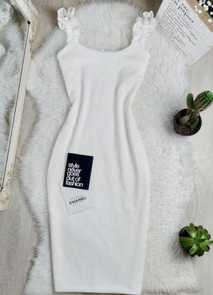 Новое платье миди в рубчик с красивыми бретелями 😍