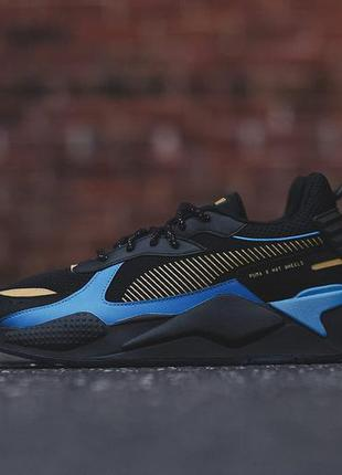 Кроссовки puma rs-x black blue