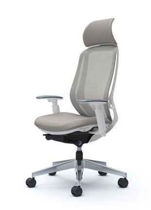 Кресло OKAMURA SYLPHY Белый каркас, Light Grey