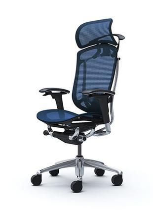 Кресла OKAMURA CONTESSA II Sekonda серебряный, Dark Blue