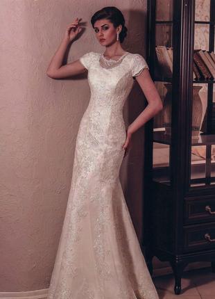 Свадебное платье айвори, 46 размер