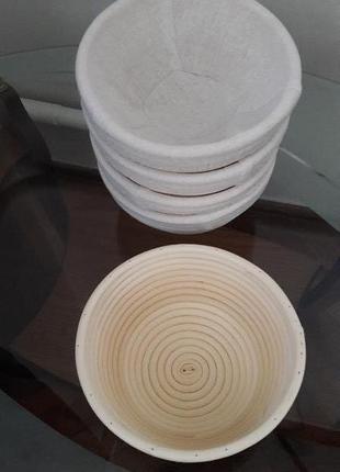 Формы для расстойки из ротанга круг на 0,5 новые, с чехлом
