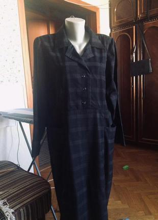 Платье в клетку,прямого кроя,большой размер германии