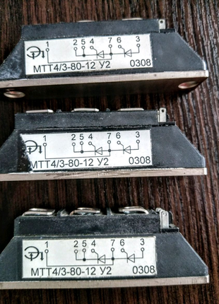 Модуль тиристорный МТТ 4/3-80-20-у2