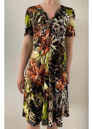 Плаття, сукня в принт, платье миди.