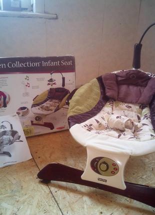 Массажное кресло шезлонг Fisher Price L7193 Zen Collection