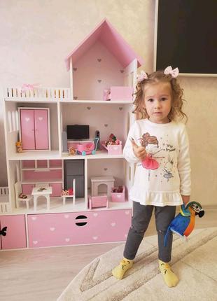 Кукольный домик, домик для кукол барби, домик детский