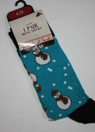 Новогодние носки мужские от george