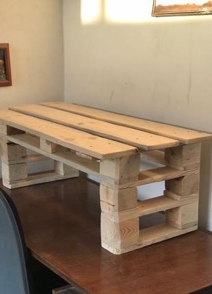 меблі з палет піддонів стіл лавка і інше під замовлення