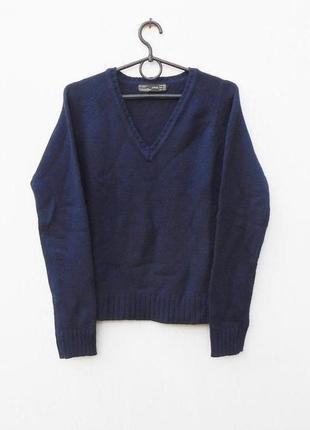 Теплый 30% шерстяной свитер джемпер с длинным рукавом