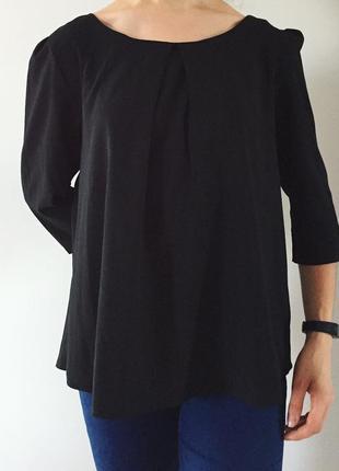 Блуза черного цвета, блузка, кофта, черная легкая блуза от atm...