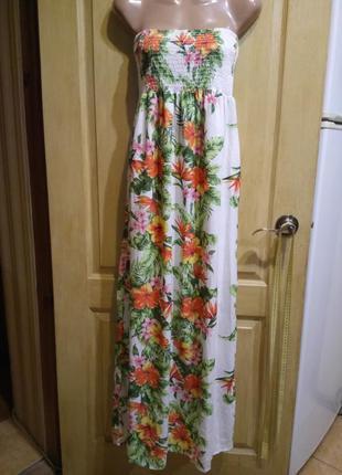 Яркий летний сарафан платье