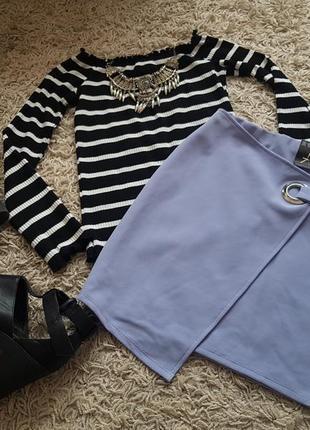 Стильная асиметричная юбка красивого сиреневого оттенка новая ...