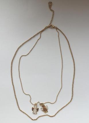 Колье, ожерелье, подвеска, цепочка под золото, трендовая цепочка.
