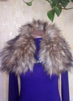 Красивый воротник из чернобурки/воротник/шуба/пальто/шарф/платок