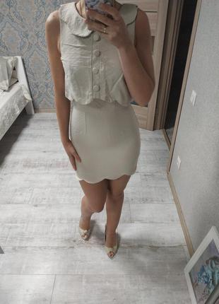 Красивое летнее платье мини
