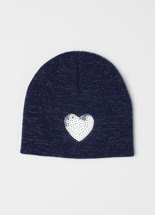 Красивая демисезонная шапка для девочки 1-2 года от h&m