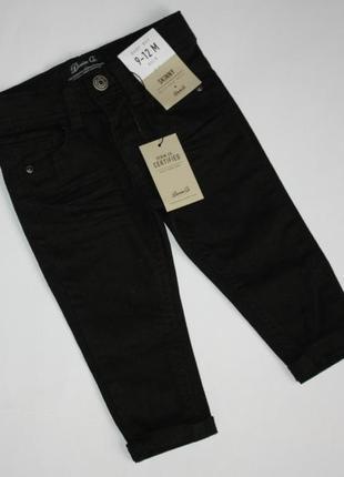 Крутые скинни джинсы узкачи мальчику 9-12 мес denim co деним ко