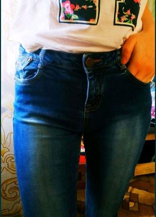 Женские джинсы skinny синие