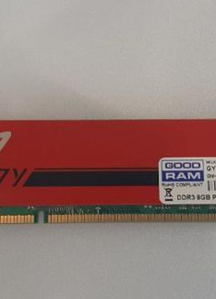 ОЗУ RAM DDR3 8GB Goodram 1600MHz PLAY Red GYR1600D364L10/8G