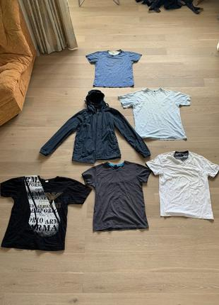 Курточка ветровка Alcott, 5 футболок Emporio Armani EA7 AX, фу...