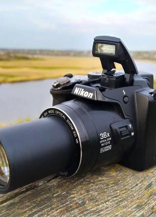 Nikon P500+Сумка+Карта памяти!Зарядное