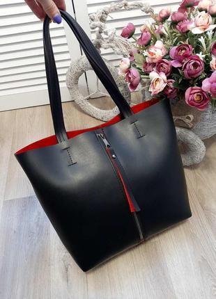 Вместительная сумка из турецкой эко-кожи