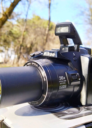 Nikon P500+Карта SD+Чехол