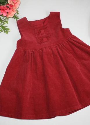 Вельветовое платье р6-9 мес dunnes stores англия