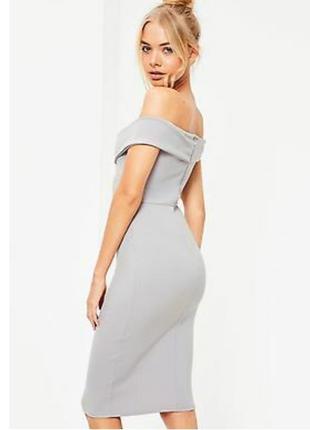Missguided новое с биркой платье серое по фигуре с открытыми п...