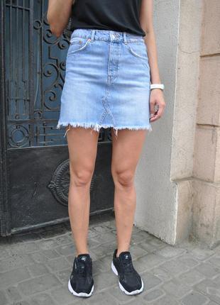 Джинсовая юбка gina tricot