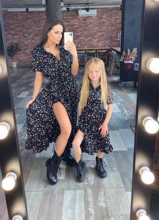 Платье мама+дочка femily look