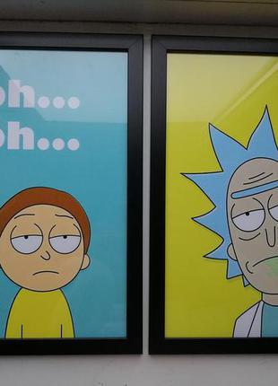 Рик и Морти постеры
