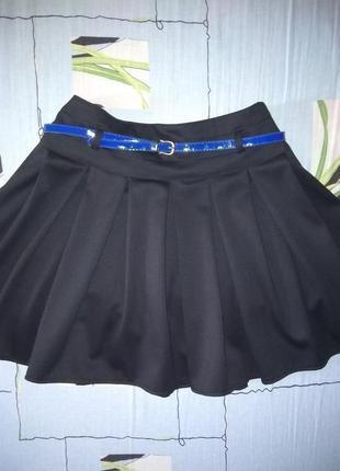 Новая классическая юбка с поясом
